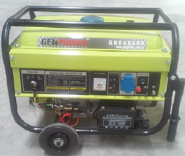 Genpower 4 kVA Benzinli Portatif Monofaze Jeneratör GBG4000E