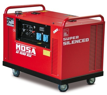 MOSA 4,5 kVA Benzinli Portatif Kabinli Jeneratör GE4500HSX